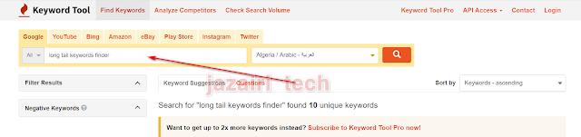long tail keywords finder free