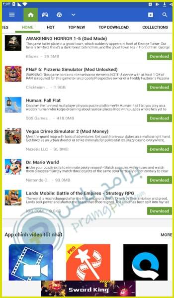 الصفحة الرئيسية تطبيق appvn