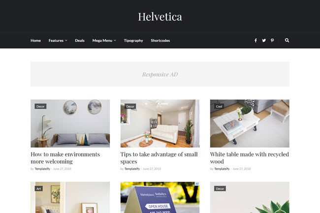 [Free Download] Helvetica Blogger Template