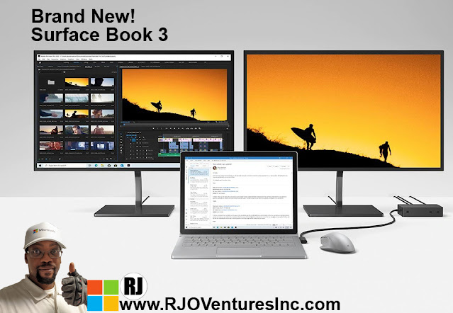 Available Now: New Surface Book 3 - 15 inch, Intel core i7, 32GB, 1TB, NVIDIA GeForce; Microsoft Power Performance Device [RJOVenturesInc.com]