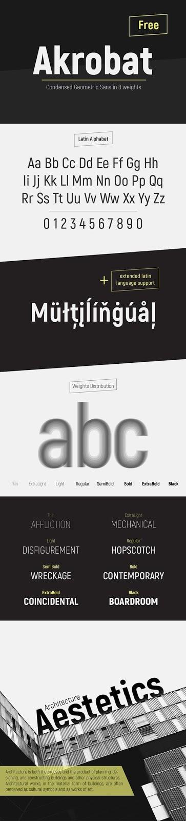 Download Gratis Sans Serif Komersial Font - Akrobat Free Font
