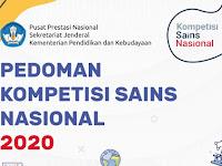 Panduan Kompetisi Sains Nasional (KSN) Nasional 2020