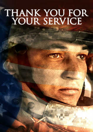 Thank You For Your Service 2017 HDRip 300MB English 480p ESub Watch Online Full Movie Download Worldfree4u 9xmovies