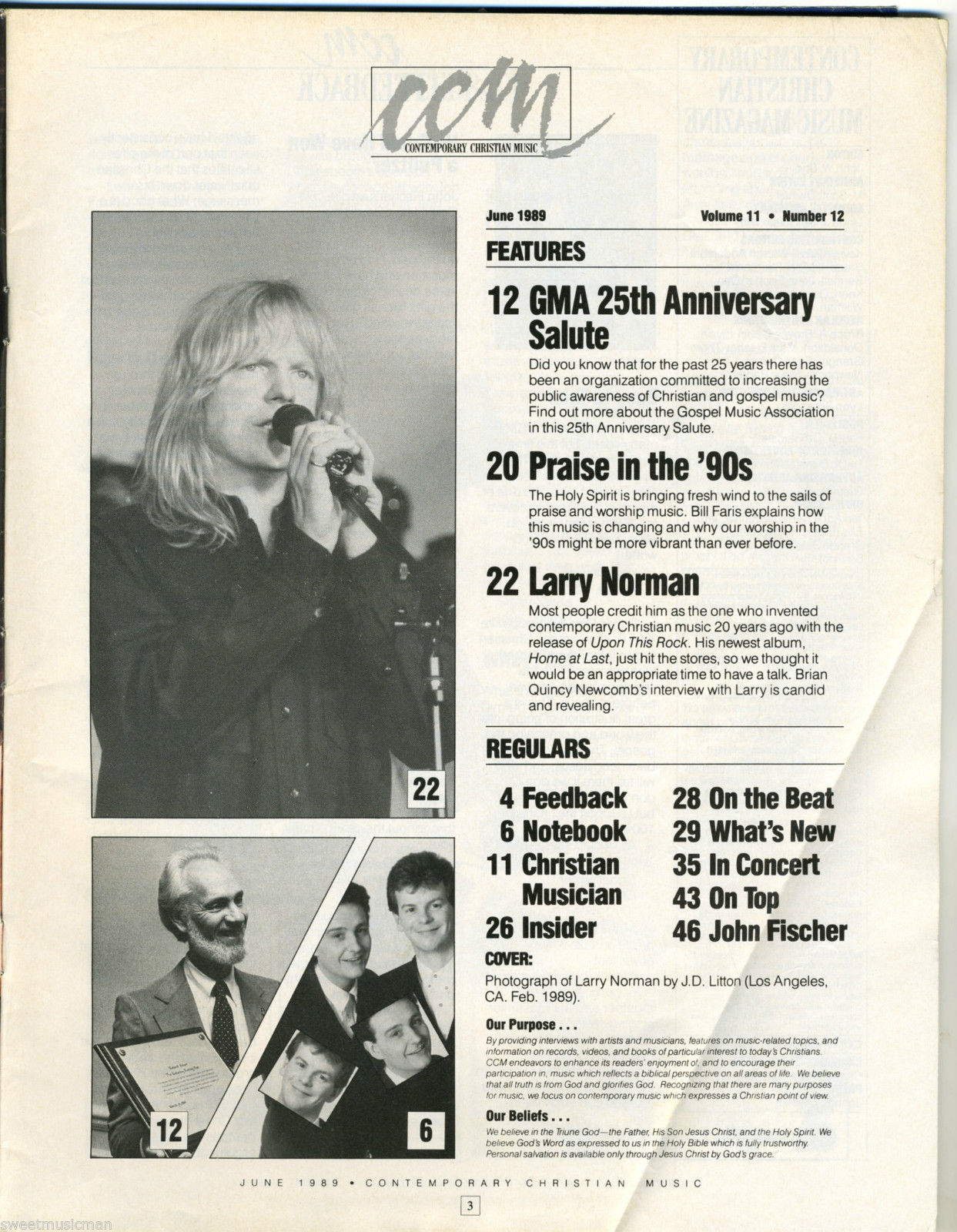 26 Years Ago: Larry Norman in CCM Magazine Cover