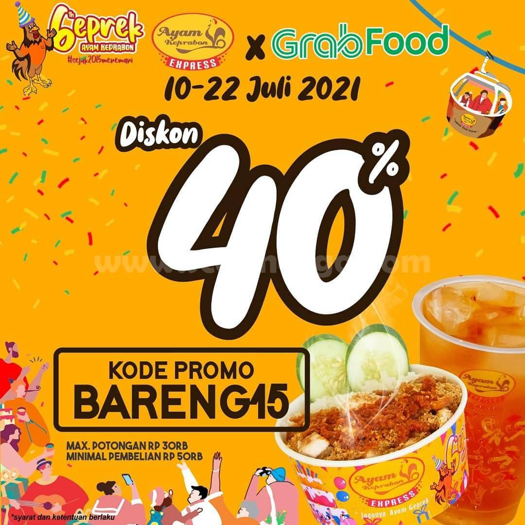 Ayam Keprabon Promo Diskon hingga 40% via Grabfood