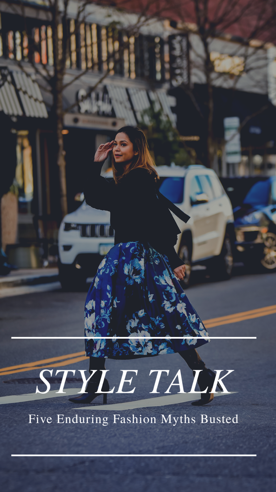 navy and black outfit, bow sweater, tipi boots, street style, street photography, style myths, myriad musings, saumya shiohare