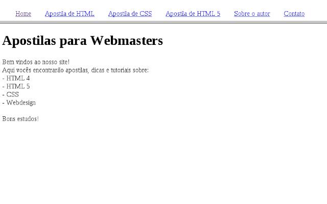 Apostila completa online grátis de HTML e CSS