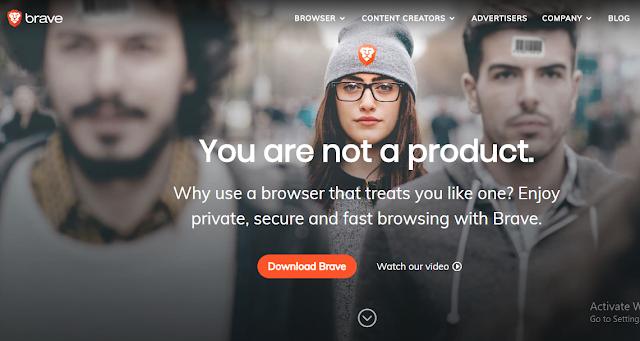 Brave Privacy Browser.
