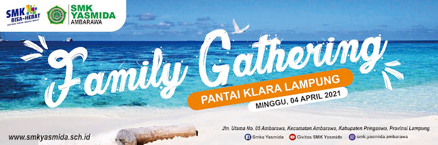 Desain Banner Spanduk Family Gathering di Pantai dengan CorelDRAW