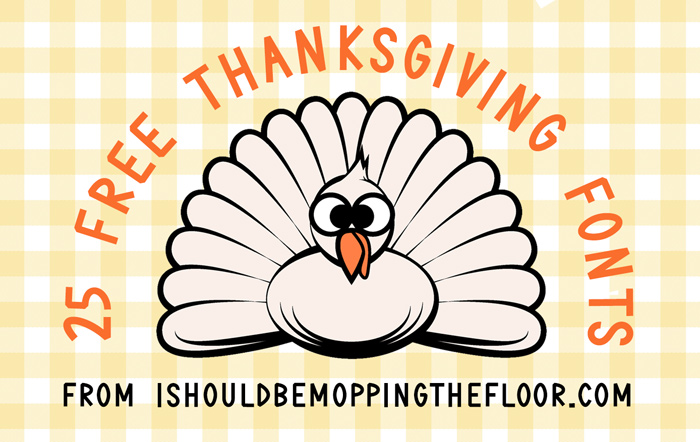 25 Free Thanksgiving Fonts