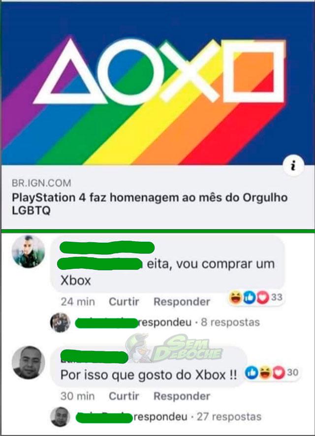 O CONSOLE QUE EU GOSTO APOIA O MOVIMENTO LGBT, VOU MUDAR PRO CONCORRENTE