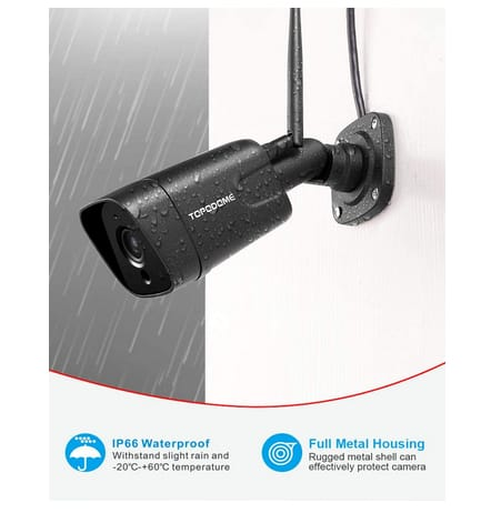 TOPODOME TD-J10A Bullet Outdoor Wireless Security Camera