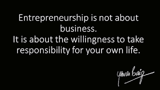 Entreprenuership is not about business