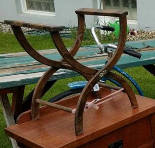 Upcycled Luggage Rack
