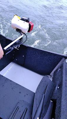 ポータボートにSP-1 PLUS(1.2馬力船外機 )を取り付け