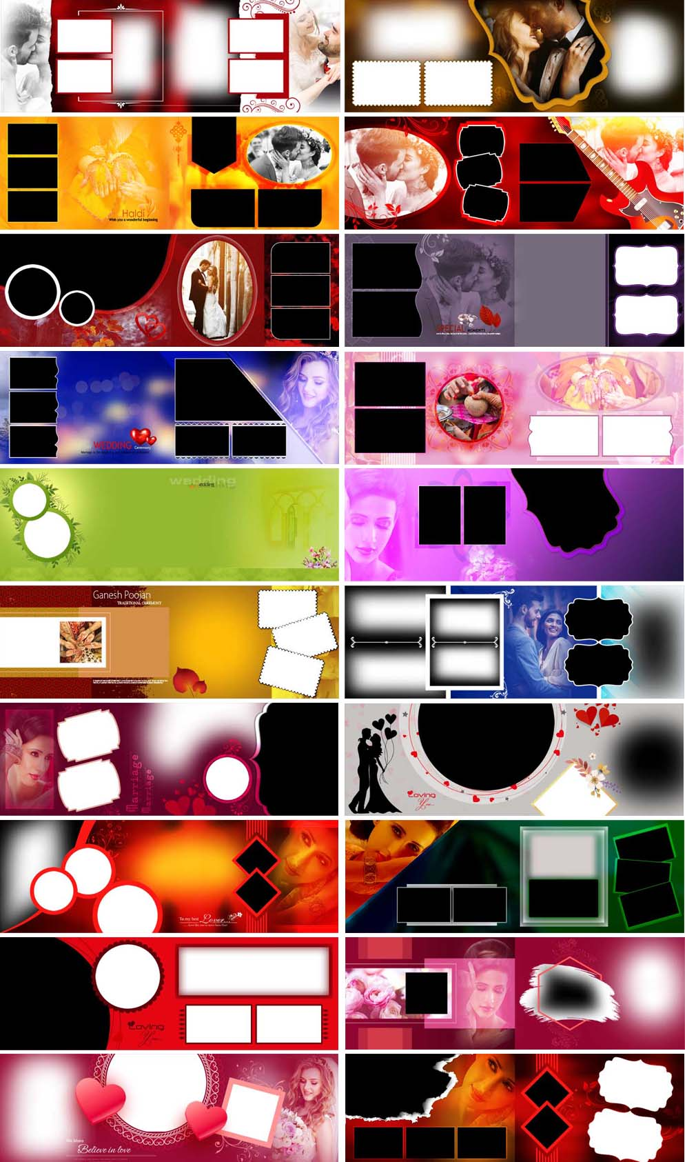 Creative Photo Album PSD Designs