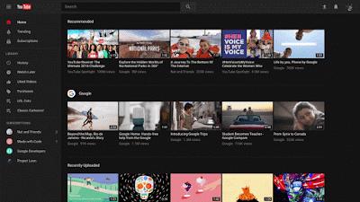 تفعيل الوضع الليلى أو الثيم الأسود لموقع اليوتيوب