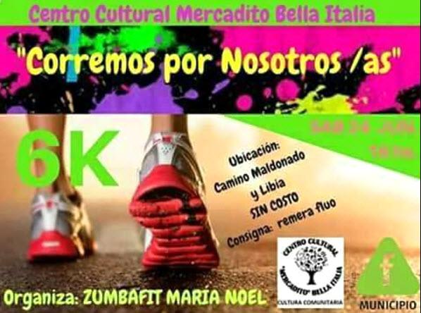 6k Corremos por nosotr@s en Centro Cultural Mercadito de Bella Italia (Montevideo, 24/jun/2017)