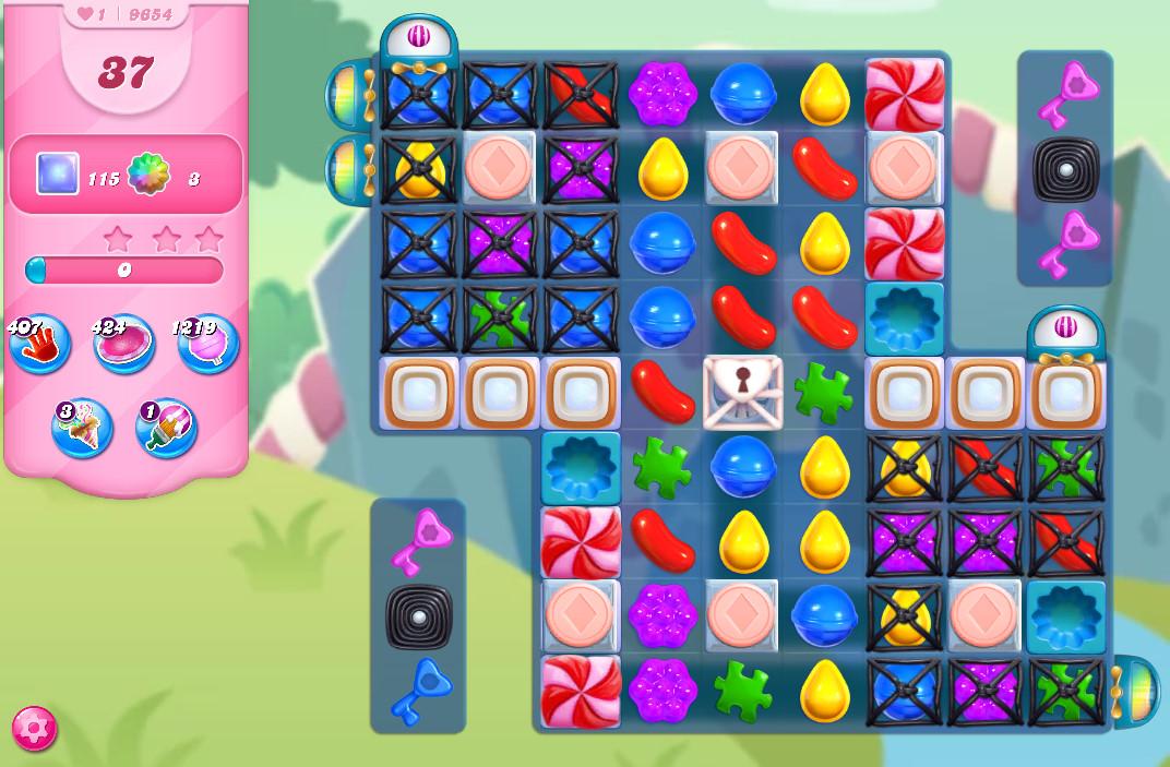 Candy Crush Saga level 9654