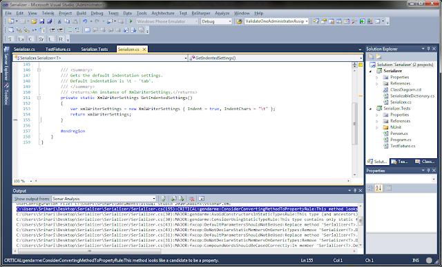 Getting Sonar Results in Visual Studio | Zen and Art of Programming