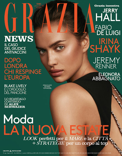 Actress, Model, @ Irina Shayk - Grazia Italy July 2016