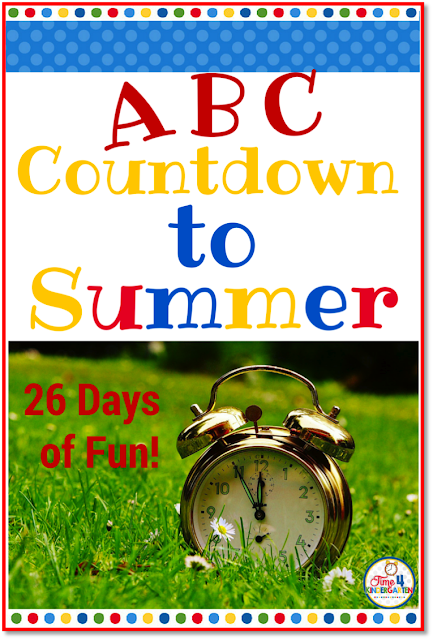 ABC Countdown to Summer: Countdown the days to summer break with a fun activity that correlates with a letter each day.