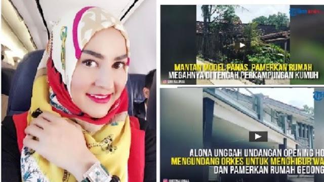 Cynthiara Alona Bangun Istana di Kampungnya