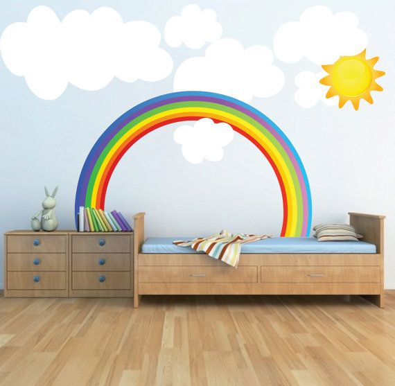 Rainbow Wall Mural Childrens Room