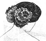 Rosettes worn in hair, 1859, Arthur's Illustrated Home Magazine