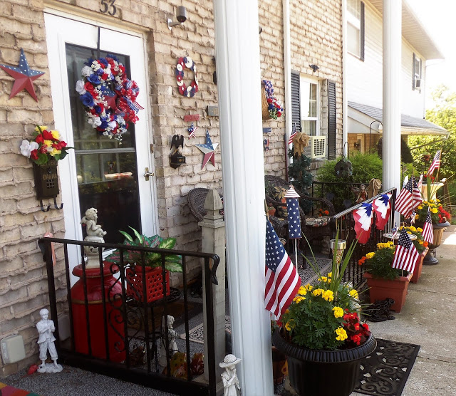 Patriotic Front Porch and Yard, 2018