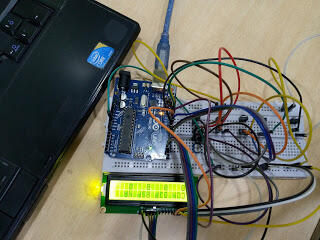 Electronic Voting Machine(EVM) with Arduino and LCD Display