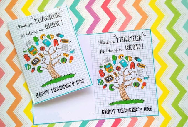 Teachers day cards designs homemade