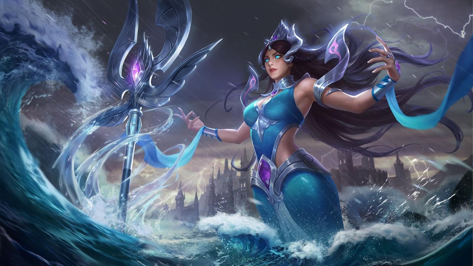 Wallpaper Kadita Atlantean Princess Skin Mobile Legends HD for PC