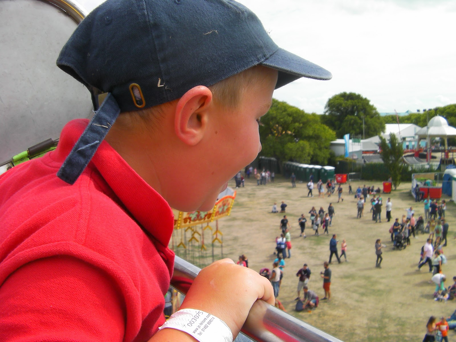 view over southsea common from ferris wheel victorious festival 2014