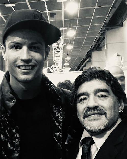 Cristiano Ronaldo y Diego Armando Maradona.