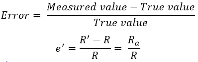 Ammeter Voltmeter Method for Measurement of Resistance