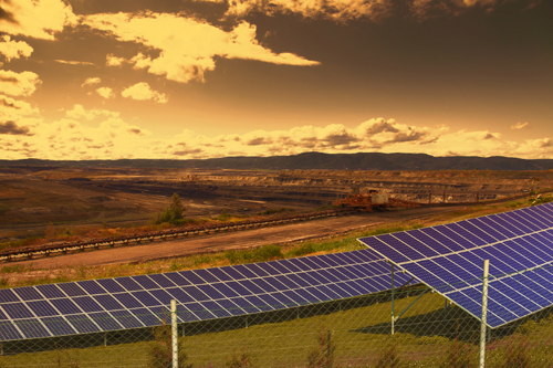 Solar Panels in Coal Mines