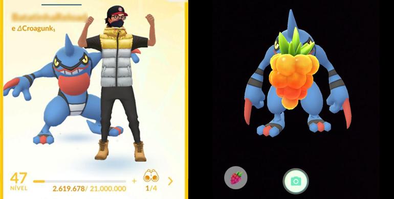 Tela de Treinador - Pokémon GO