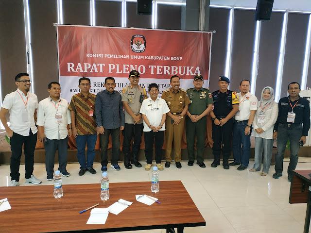 Ketua DPRD Bone Saksikan Langsung Rapat Pleno KPU Bone