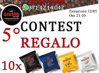 Logo Vinci gratis 40 cialde caffè Giusto : come partecipare