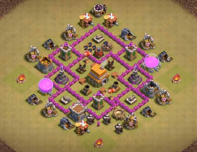 Base Town Hall 6 Clash of Clans War