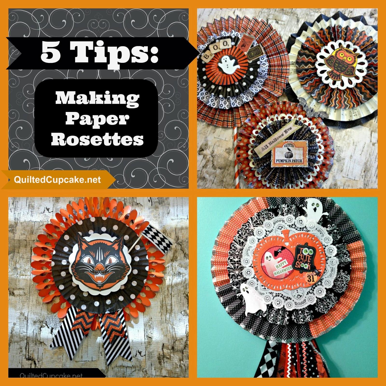 5 Tips For Making Paper Rosettes