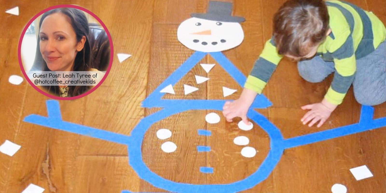 Snowman Shape Sorting Craft