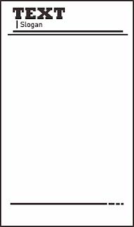 Desain kop surat hitam putih