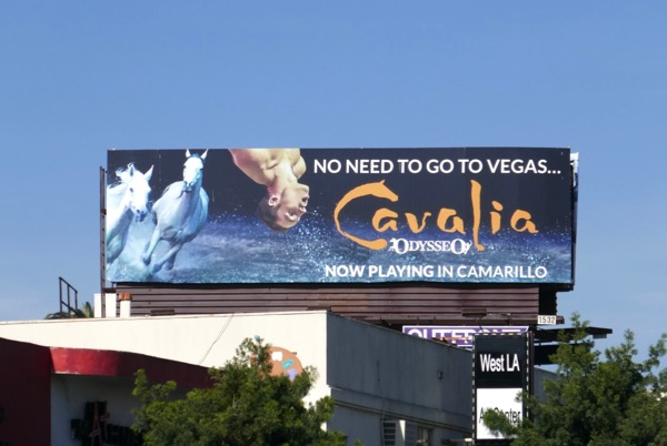 Cavalia No need Vegas billboard