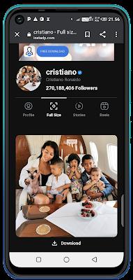 Cara melihat dan mendownload foto profil instagram