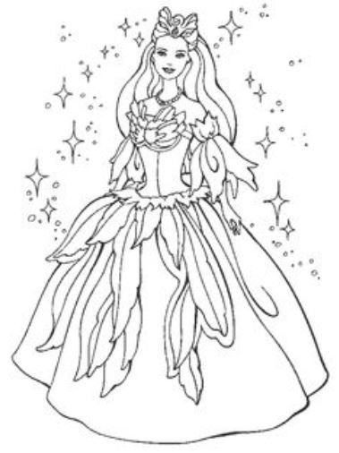 Gambar Mewarnai Baju Pesta Indah Gaun Putri Cantik Jelita Gambar
