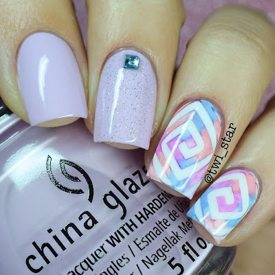 Sharpie Spring Watercolor Nails China Glaze In A Lily Bit Twinkled T Vinyls