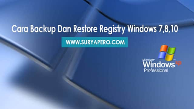cara backup dan mengembalikan backup registry