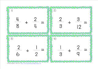 Fractions, Adding, Subtracting, Unlike Denominators, Math, Intermediate, 4th Grade, 5th Grade, 6th Grade